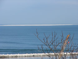 2007-02-05 沖合に流氷が見えた